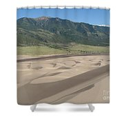 Composition Divide Shower Curtain