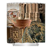Composition For Poster Xiv Jornadas De Estudios Calagurritanos Shower Curtain