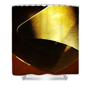 Composition In Gold Shower Curtain