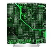 Computer Circuit Board Shower Curtain