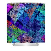 Computer Generated Abstract Julia Fractal Flame Shower Curtain