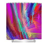 Computer Generated Pink Abstract Fractal Shower Curtain