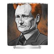 Conan O'brien Artwork Shower Curtain