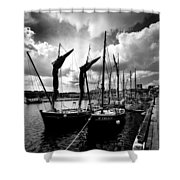 Concarneau Harbour Brittany France Shower Curtain