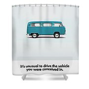 Conceived Shower Curtain