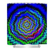 Concentric Hypnotic Circles 1 Shower Curtain