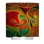 Conception Abstract Shower Curtain