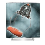 Conceptual Image Of A Nanobot Injecting Shower Curtain