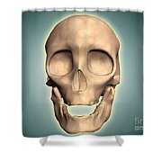 Conceptual Image Of Human Skull, Front Shower Curtain by Stocktrek Images