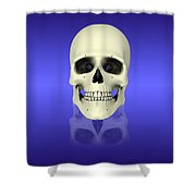 Conceptual View Of Human Skull Shower Curtain by Stocktrek Images