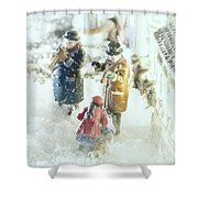 Concert In The Snow Shower Curtain