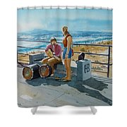 Concert In The Sun To An Audience Of One Shower Curtain