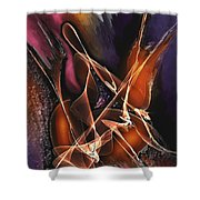 Concerto Shower Curtain by Francoise Dugourd-Caput
