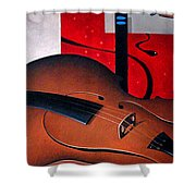Concerto Of Good And Evil Shower Curtain