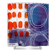 Concerto One - Abstract Art Shower Curtain