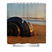 Conch Shell And Pier 6 12/5 Shower Curtain