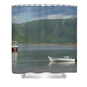 Conche Harbor Shower Curtain