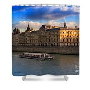 Conciergerie And The Seine River Paris Shower Curtain