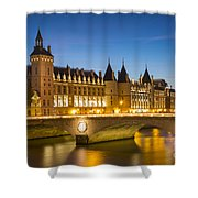 Conciergerie Twilight - River Seine Shower Curtain