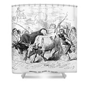 Concord: Evacuation, 1775 Shower Curtain by Granger
