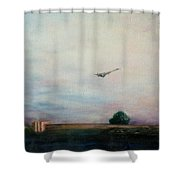 Concorde Over London Shower Curtain