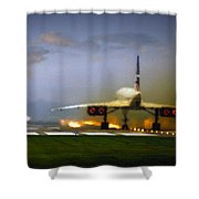 Concorde Takeoff Shower Curtain