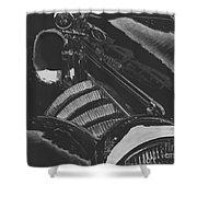 Concours At Dusk 1935 Auburn Speedster Shower Curtain