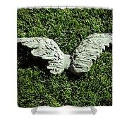 Concrete Angel Shower Curtain