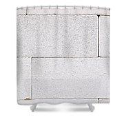 Concrete Blocks Texture Shower Curtain
