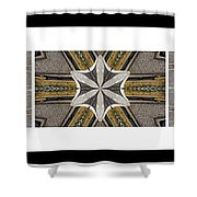 Concrete Flowers - Kaleidoscope - Pentaptych Shower Curtain