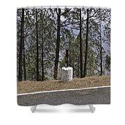 Concrete Pillar On A Highway Shower Curtain