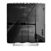 Concrete Skies  Shower Curtain