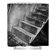 Concrete Steps Shower Curtain