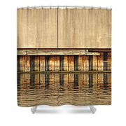 Concrete Wall And Water 1 Shower Curtain