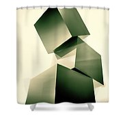 Condescending Cubes Shower Curtain