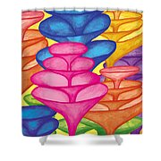 Cone Forest Shower Curtain