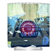 Coney Island Angel Shower Curtain
