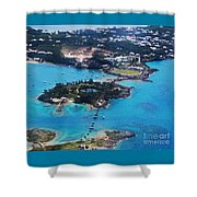 Coney Island Bermuda Aerial Shower Curtain