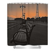 Coney Island Evening Shower Curtain