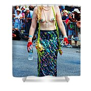 Coney Island Mermaid Shower Curtain