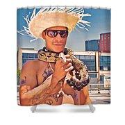 Coney Island Snake Man Shower Curtain