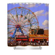 Coney Island Wonder Wheel Shower Curtain