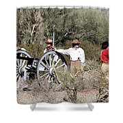Confederate Battery Shower Curtain