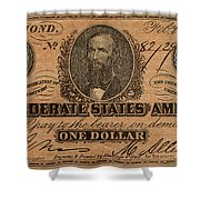 Confederate Dollar Bill Shower Curtain