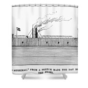 Confederate Ironclad, 1862 Shower Curtain