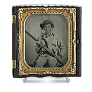 Confederate Soldier With Shotgun Shower Curtain