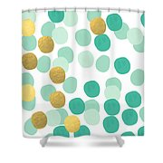 Confetti 2- Abstract Art Shower Curtain