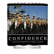 Confidence Inspirational Quote Shower Curtain by Stocktrek Images