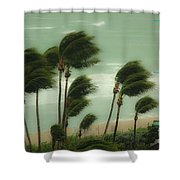 Confronting The Winds Shower Curtain