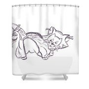 Confused Figarro Shower Curtain